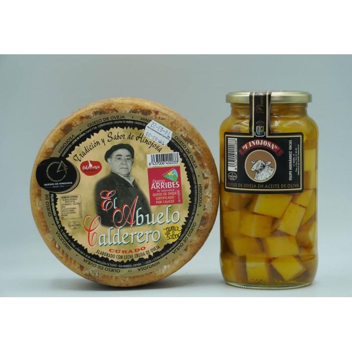 Abuelo Calderero grande + Tarro de queso en Aceite Grande