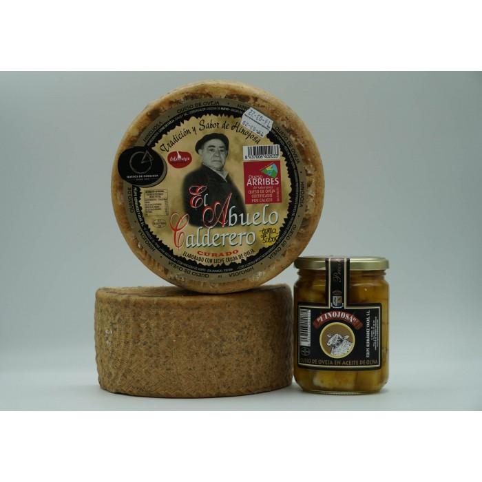 2 Quesos El Abuelo calderero grandes + Tarro de queso en aceite pequeño
