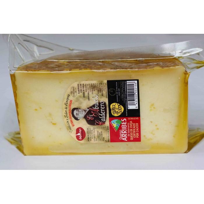 Queso  en aceite de oliva - 1/2 queso grande  El abuelo calderero. 1,200 kg aprox