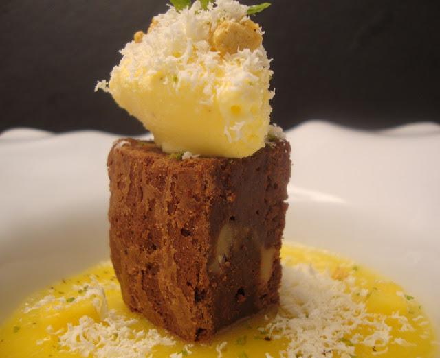 Receta de brownie de queso Hinojosa