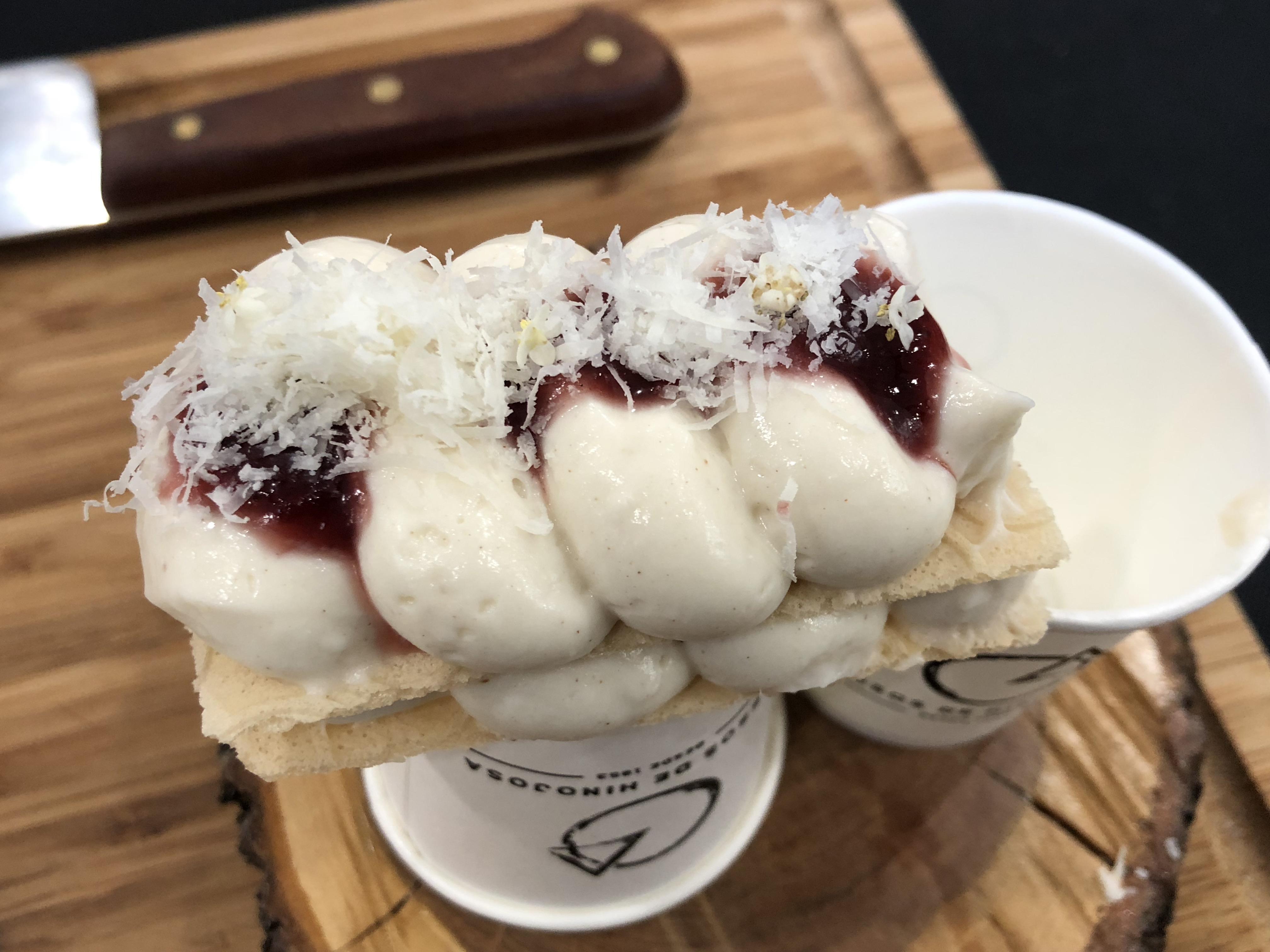 Milhojas de Queso Hinojosa con Obleas Pan de Ángel