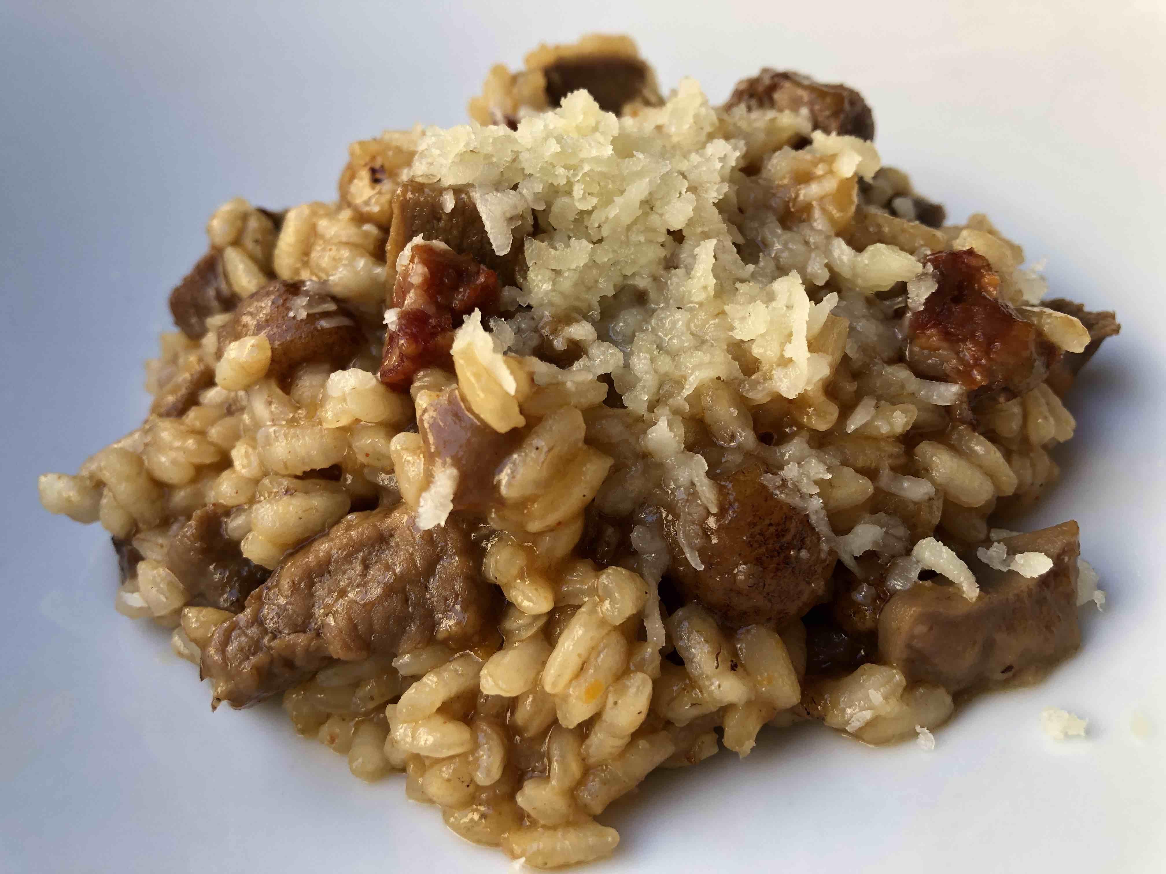 Arroz de ibéricos y queso de Hinojosa