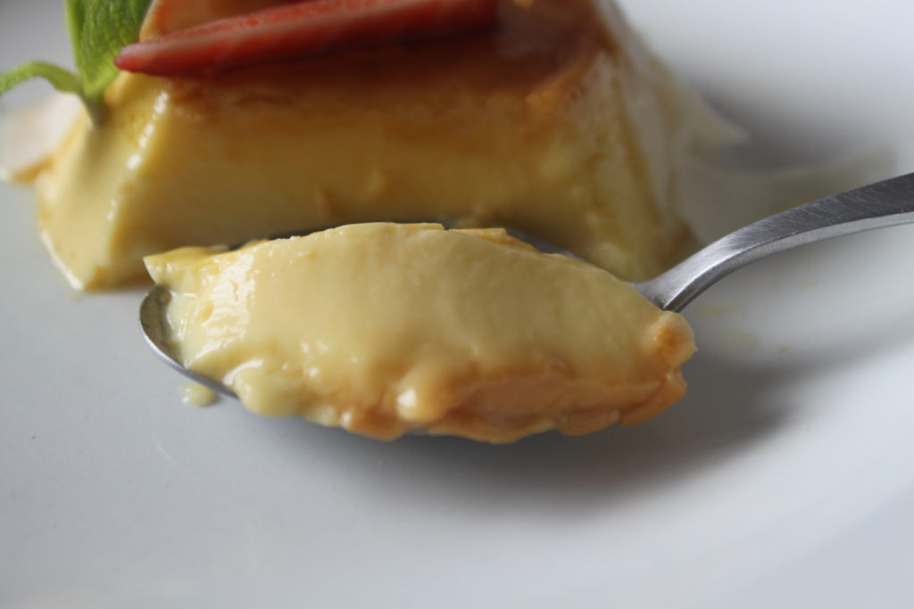 Flan de queso semicurado